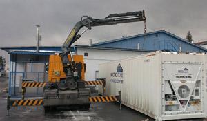 pozitionarea containerelor