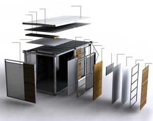 Containere birou corect izolate Estpoint